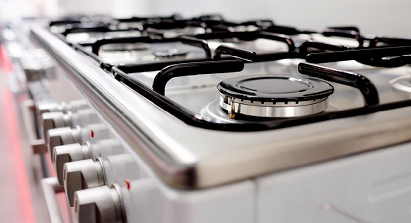 shiny clean stove