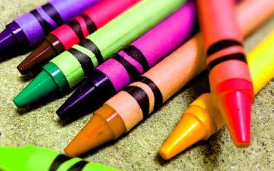using crayons