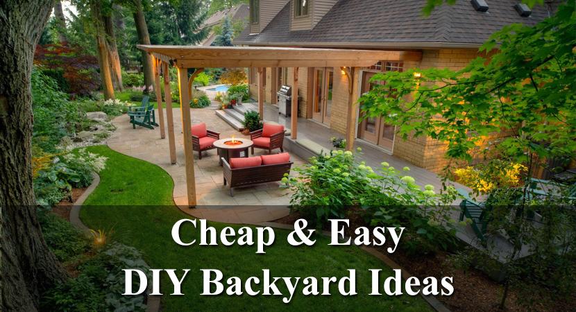 Cheap and easy DIY backyard ideas